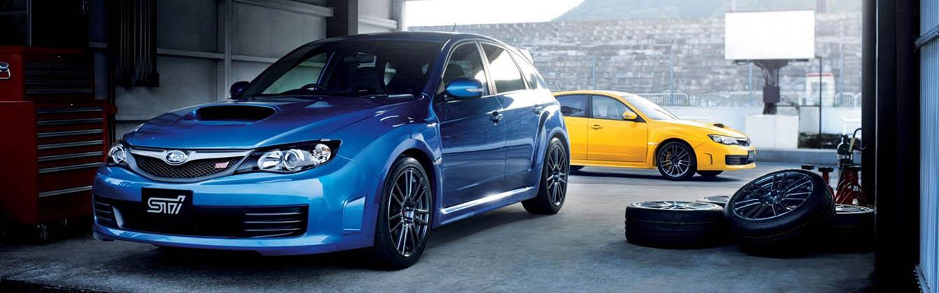 Subaru-STi-garage